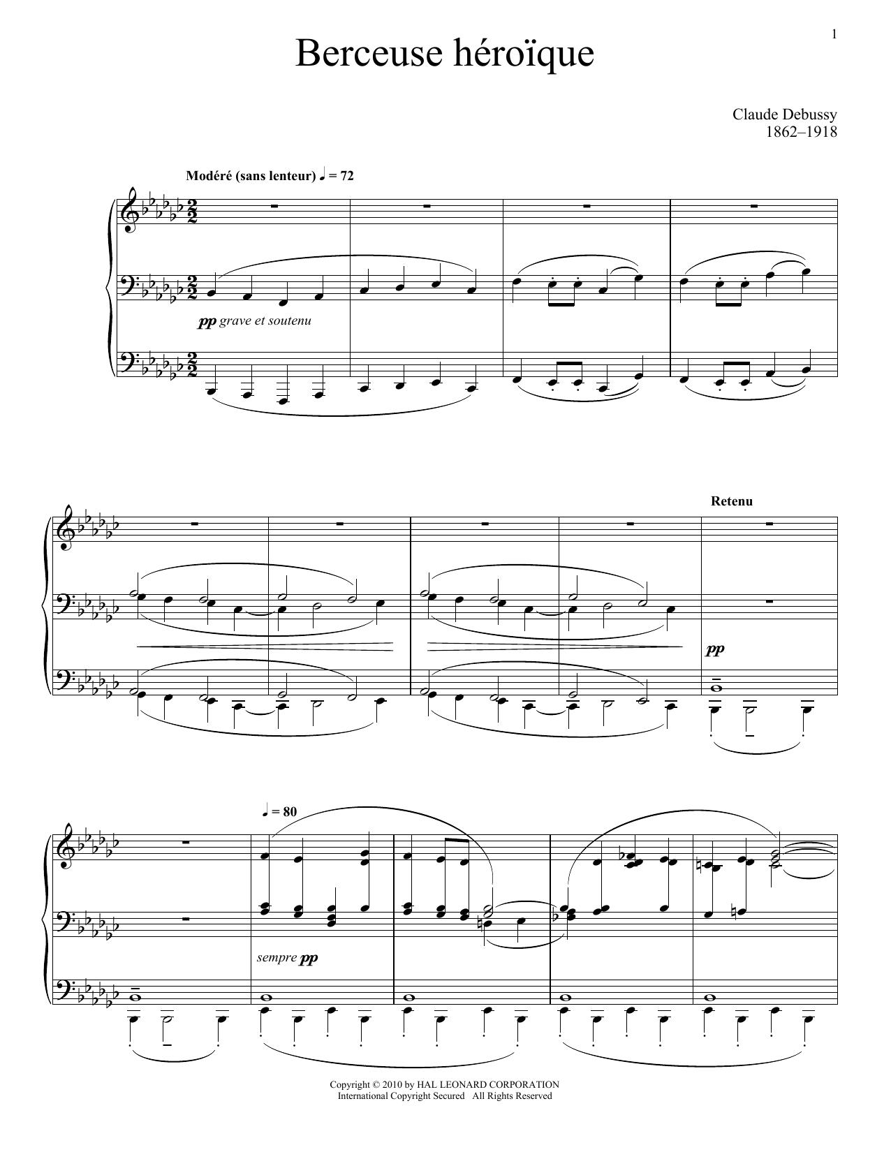Berceuse Heroique (Piano Solo)