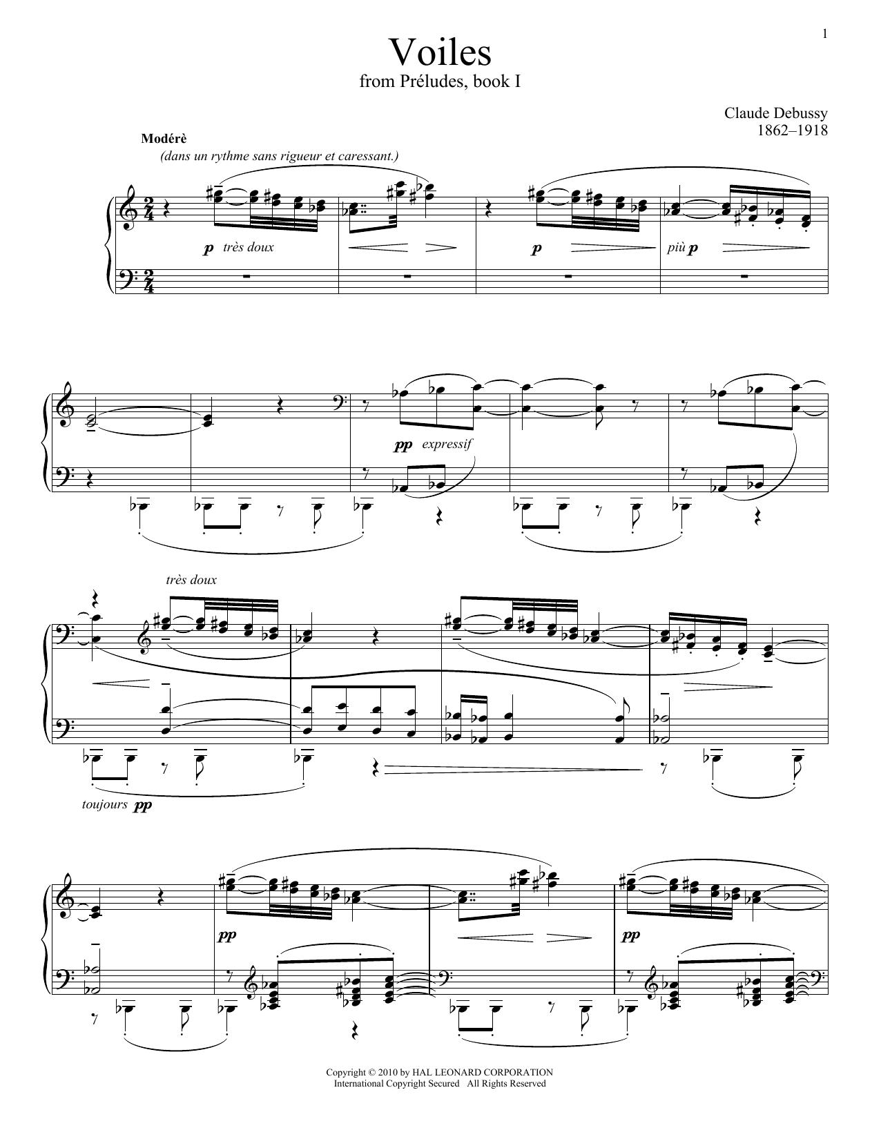 Voiles Sheet Music