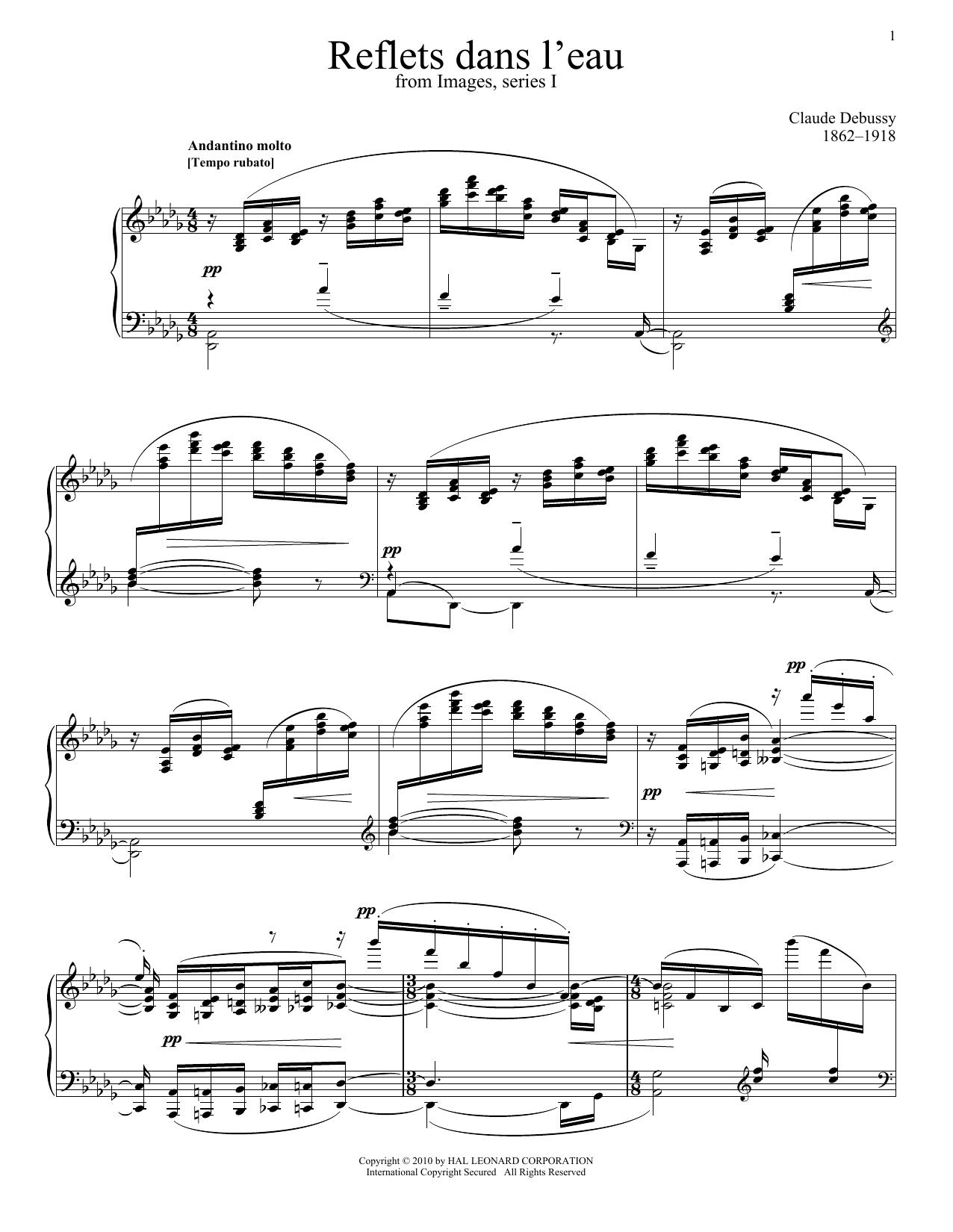 Reflets Dans L'eau Sheet Music