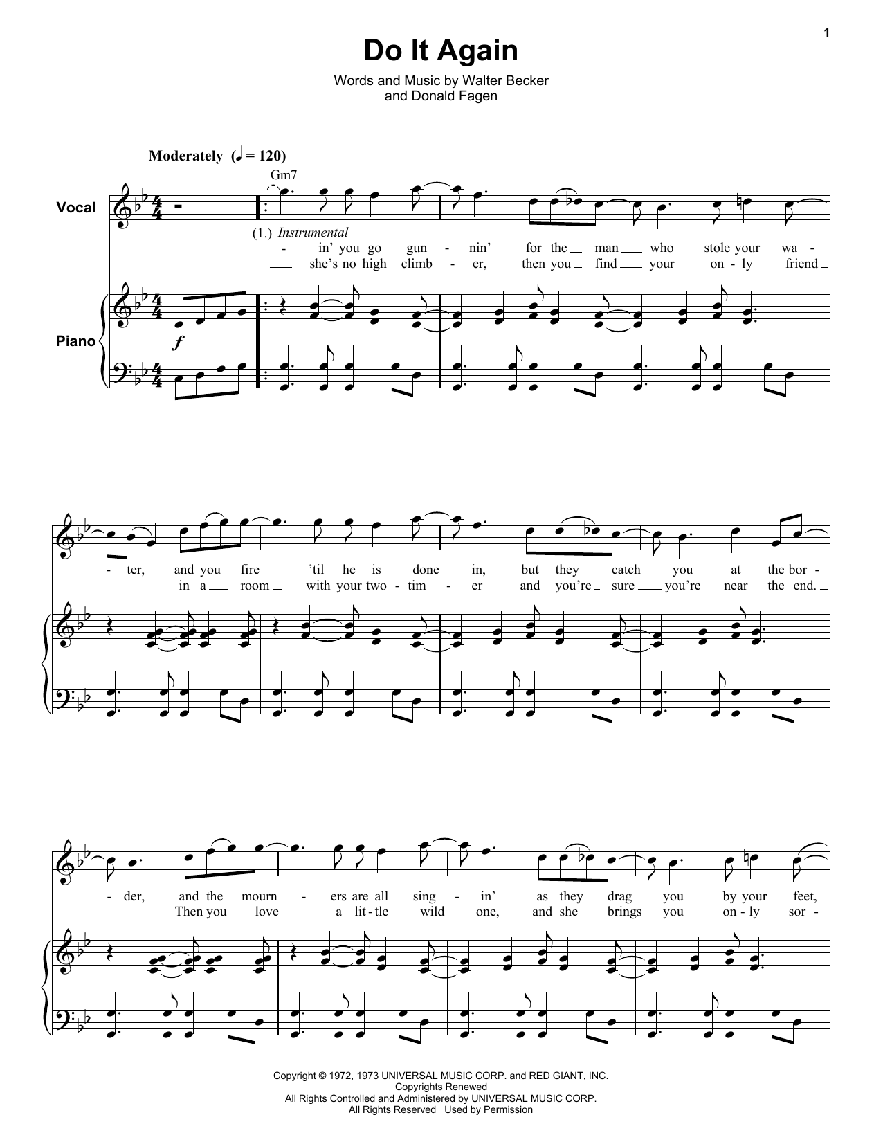 Do It Again Sheet Music