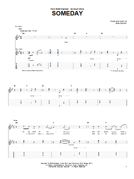 Someday Sheet Music