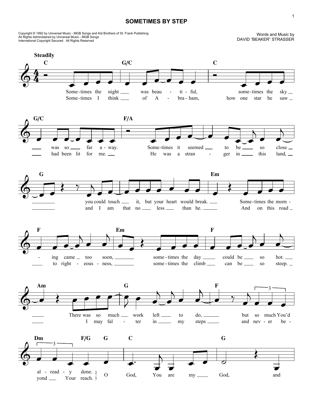 Sometimes By Step (Lead Sheet / Fake Book)