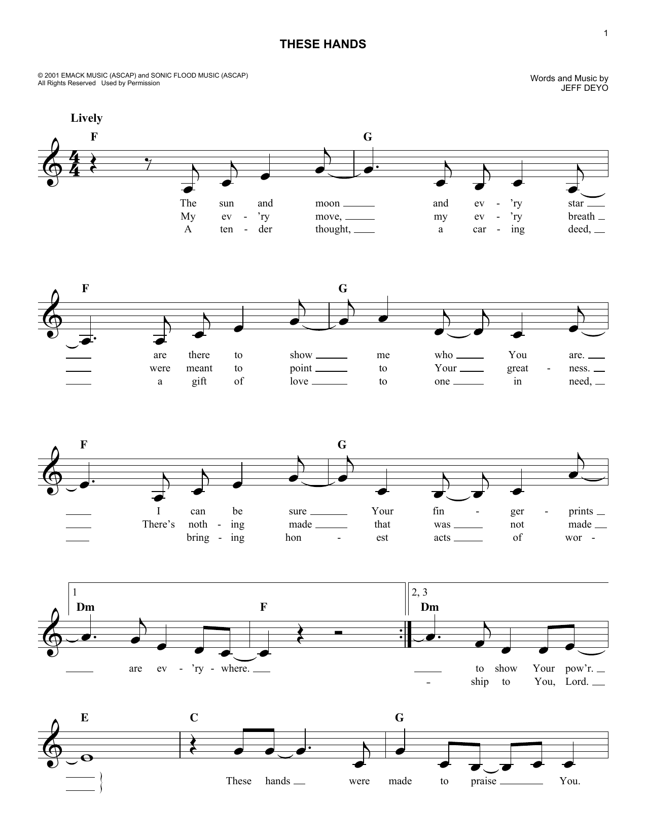 These Hands Sheet Music