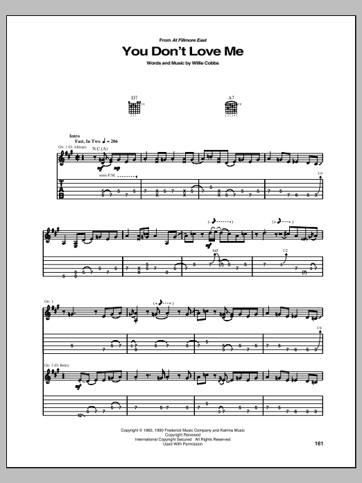 You Don't Love Me Sheet Music