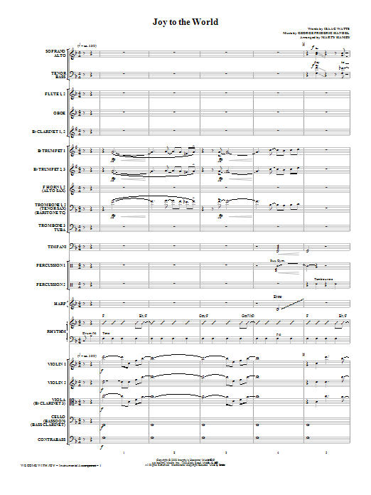 We Come With Joy Orchestration - Full Score Sheet Music