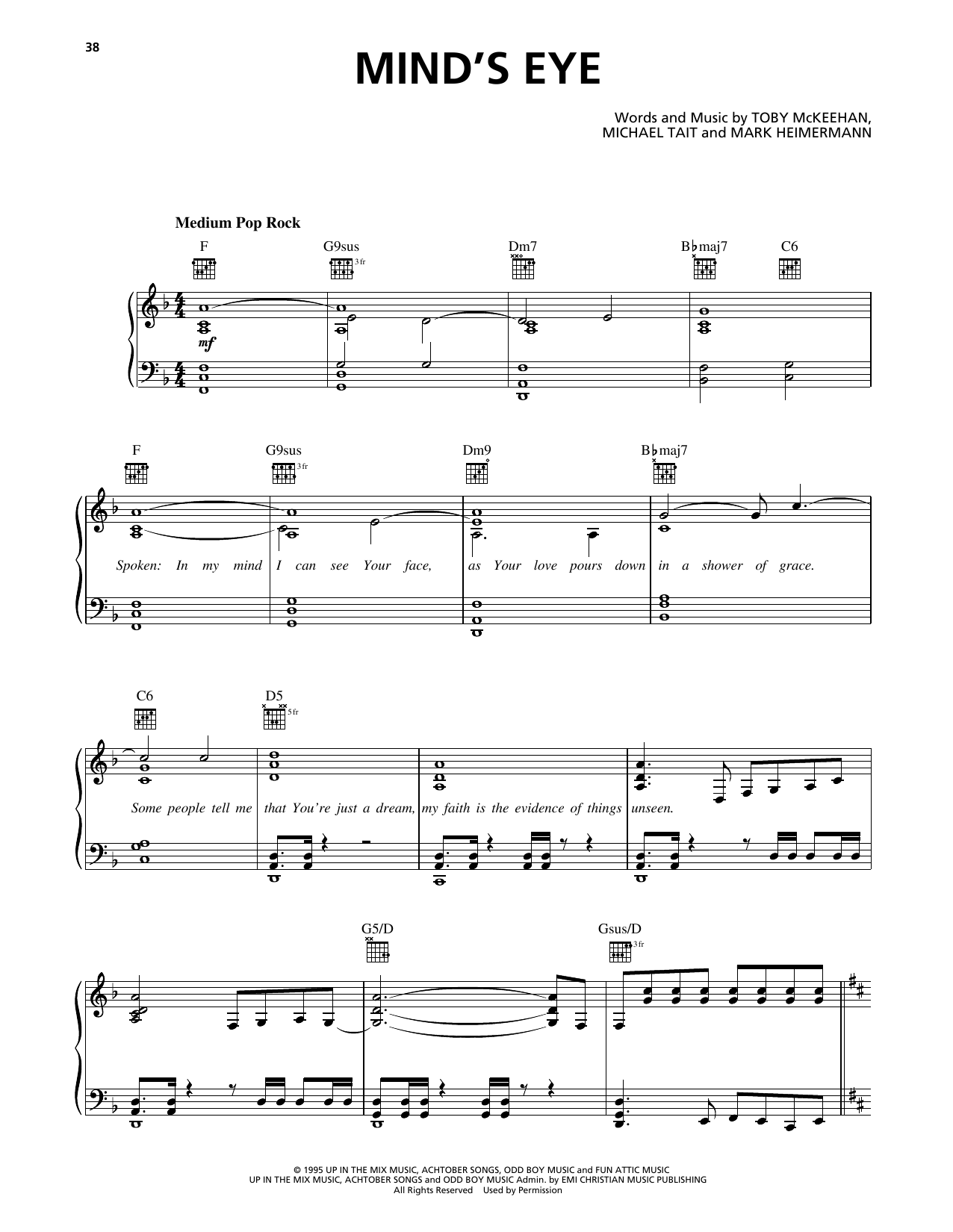 Mind's Eye Sheet Music