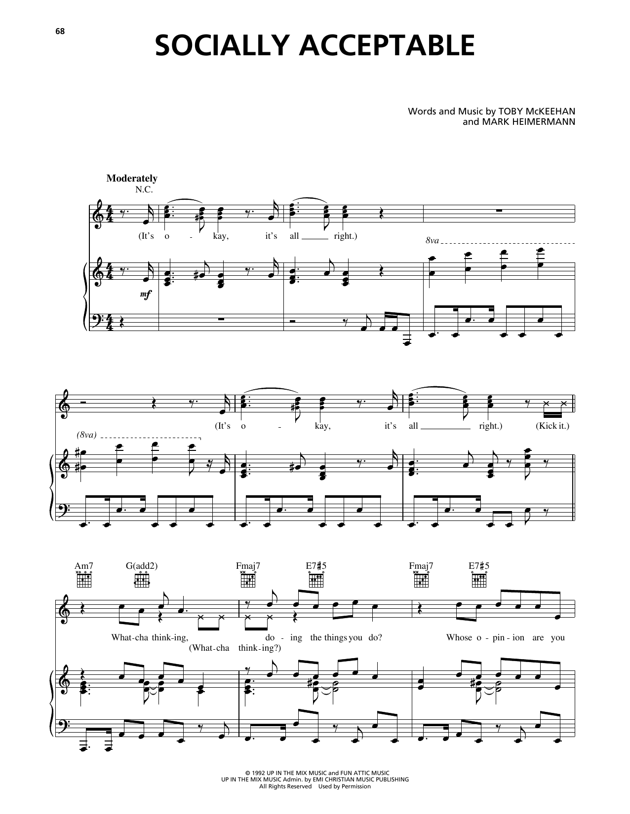 Socially Acceptable Sheet Music