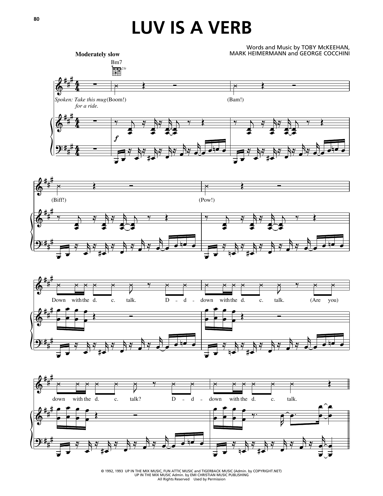 Luv Is A Verb Sheet Music