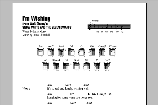 I'm Wishing Sheet Music