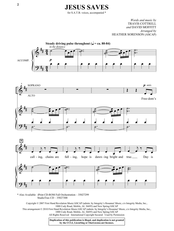 Jesus Saves (SATB Choir)