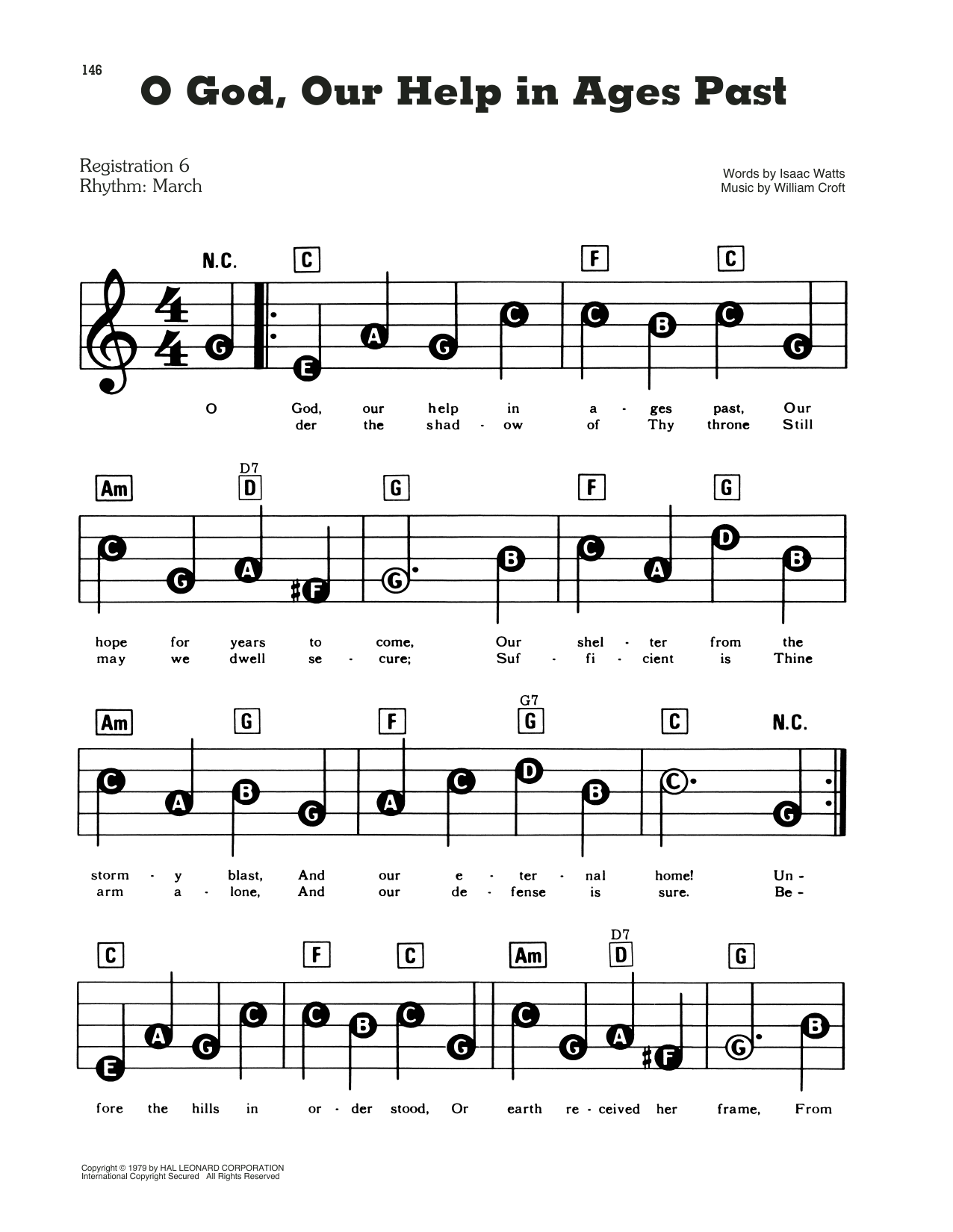 O God, Our Help In Ages Past (E-Z Play Today)