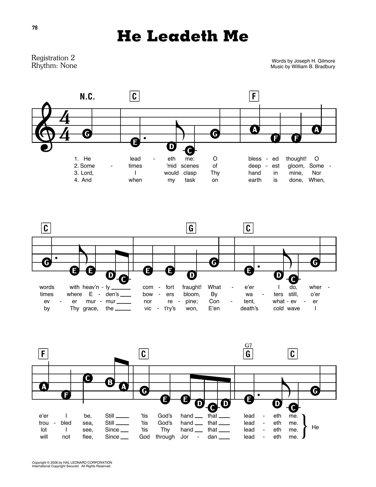 He Leadeth Me (E-Z Play Today)