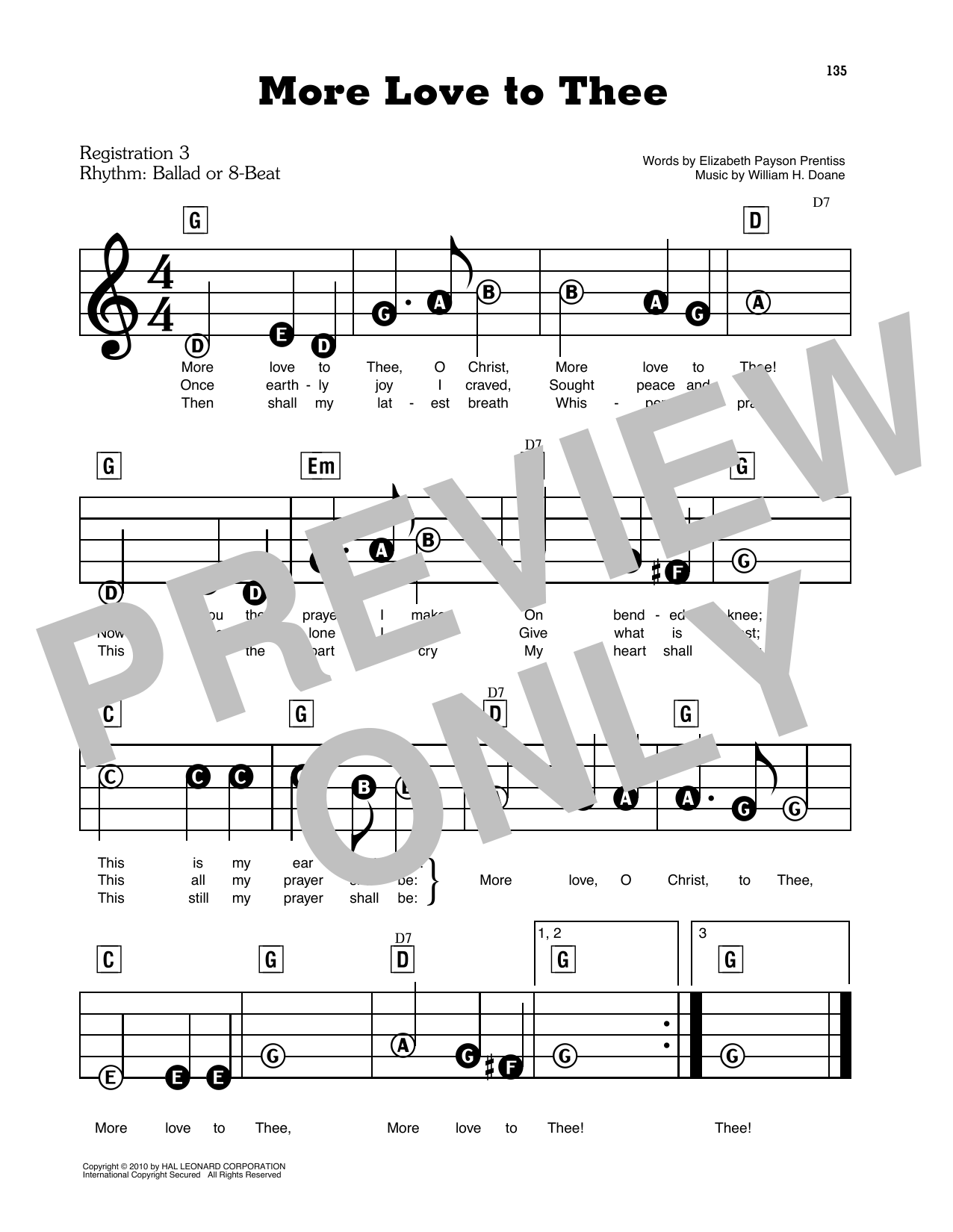 More Love To Thee (O Christ) Sheet Music