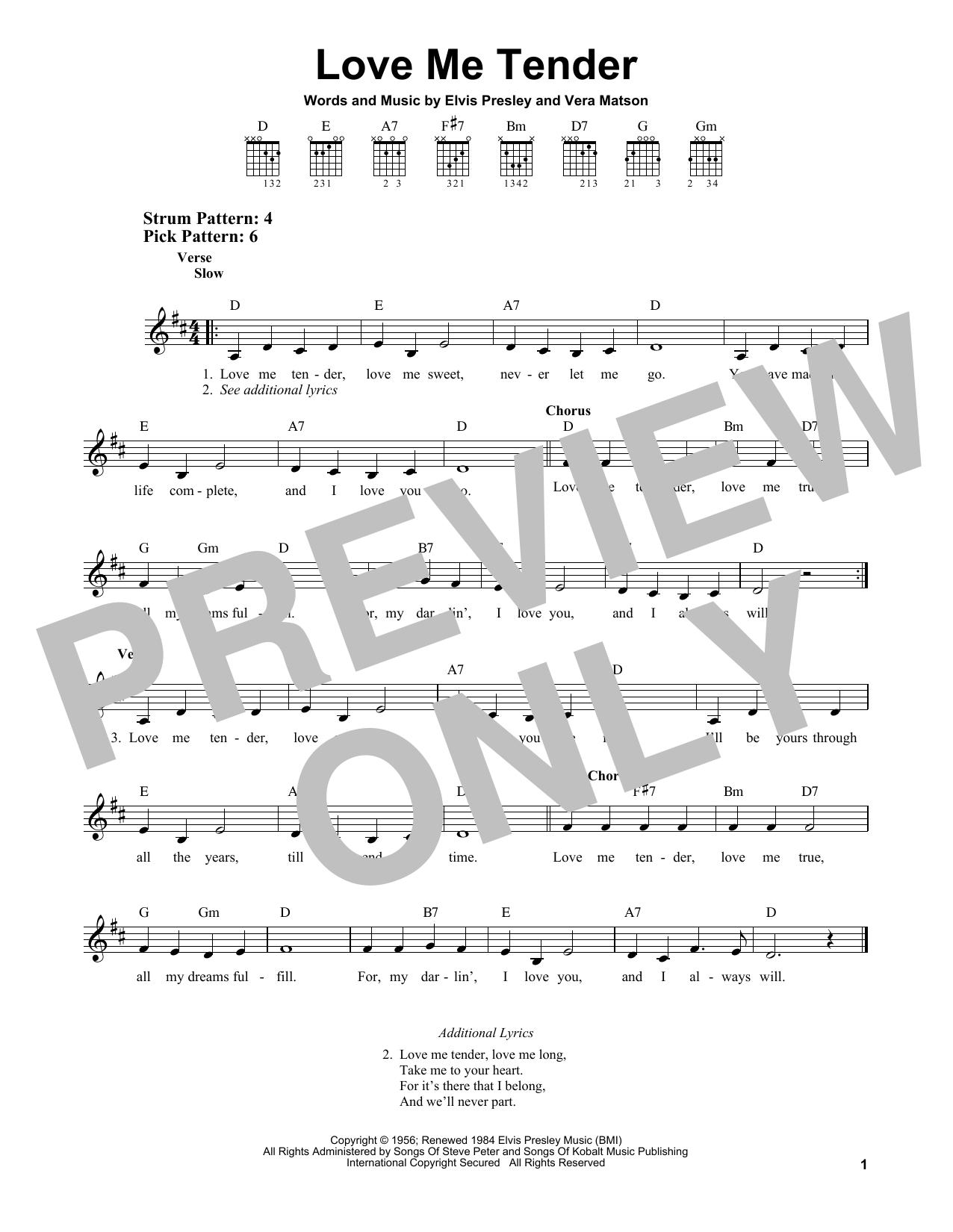 Love Me Tender (Easy Guitar)