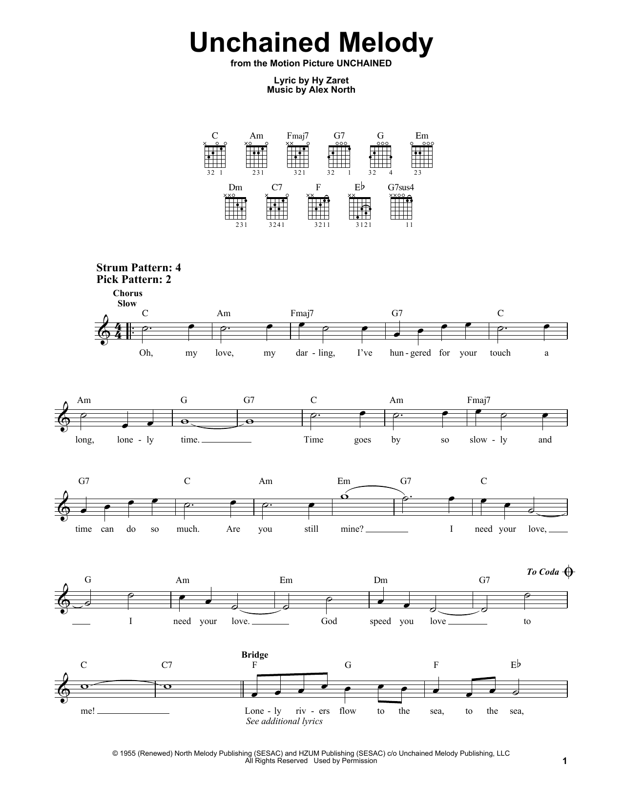 Unchained Melody (Easy Guitar)