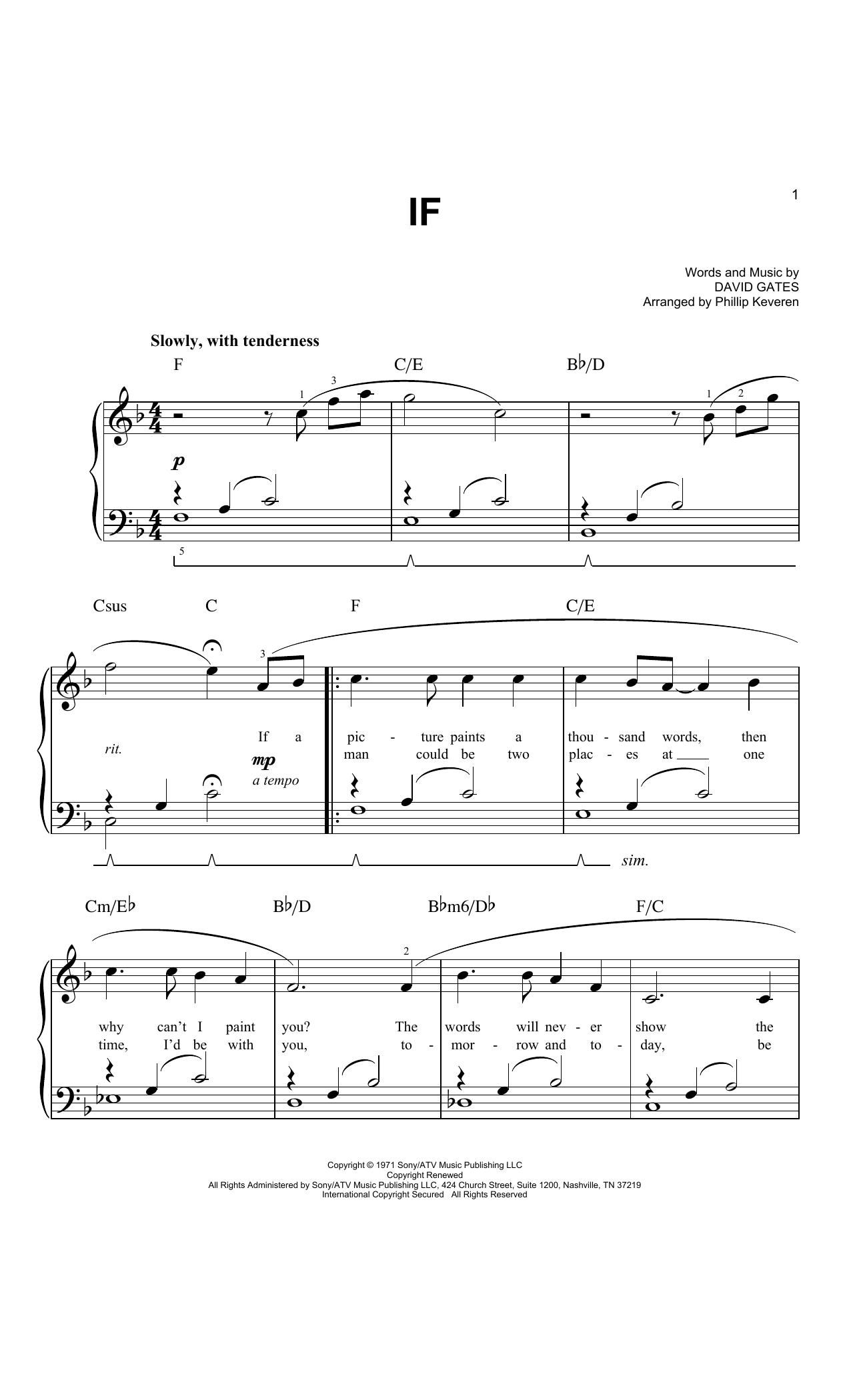 If (arr. Phillip Keveren) (Easy Piano)