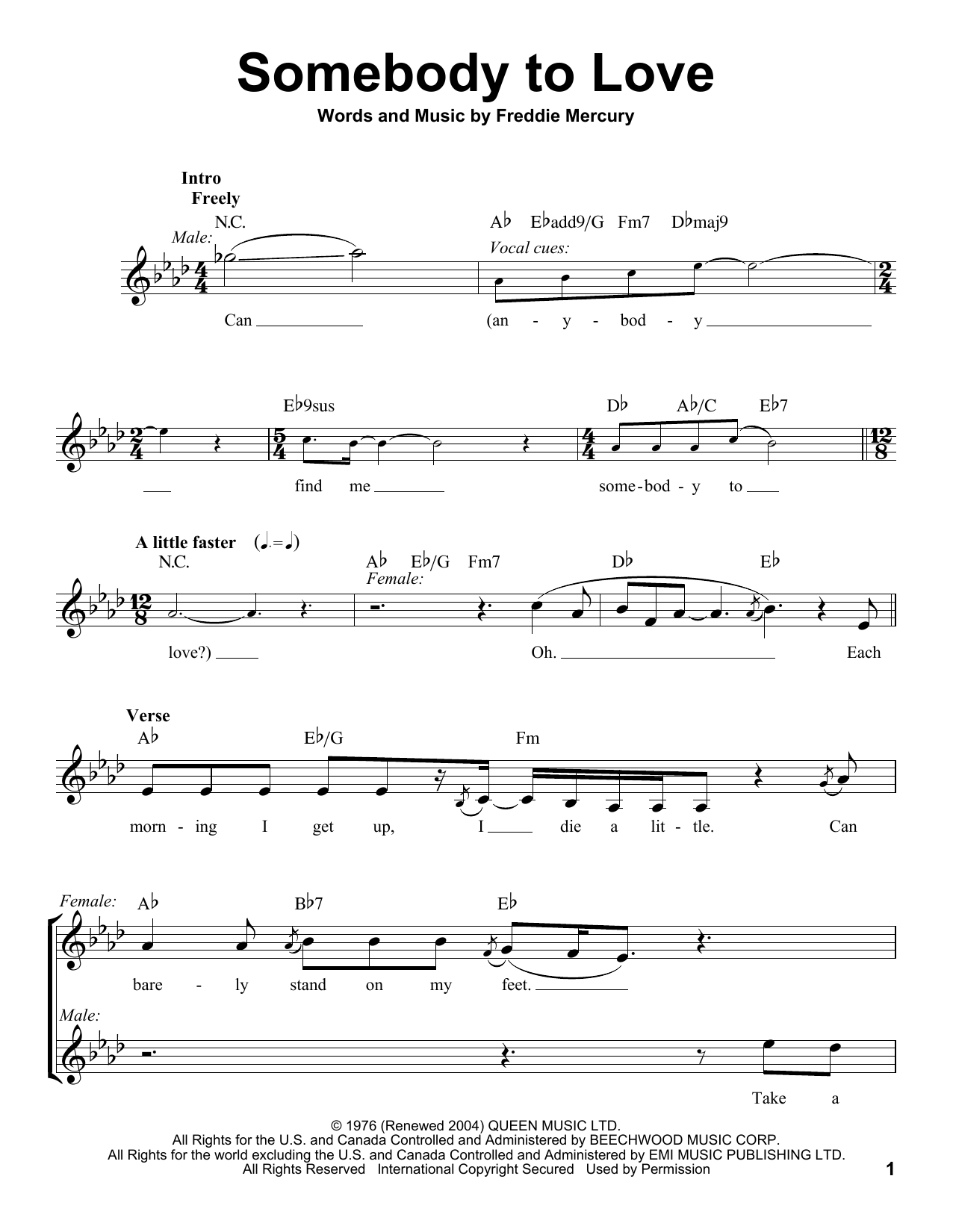 Somebody to love glee guitar chords