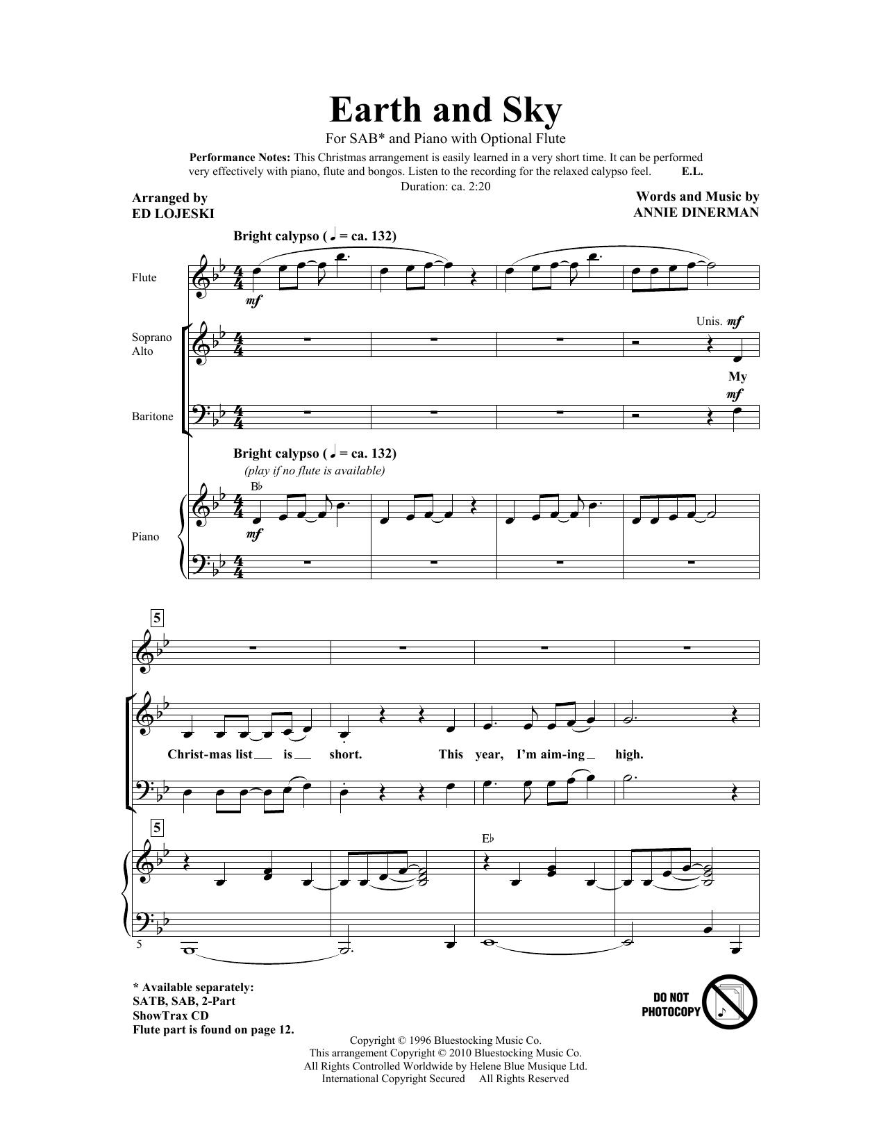 Earth And Sky (SAB Choir)