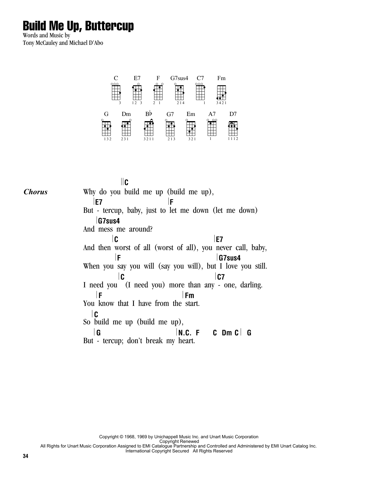 Build Me Up, Buttercup Sheet Music
