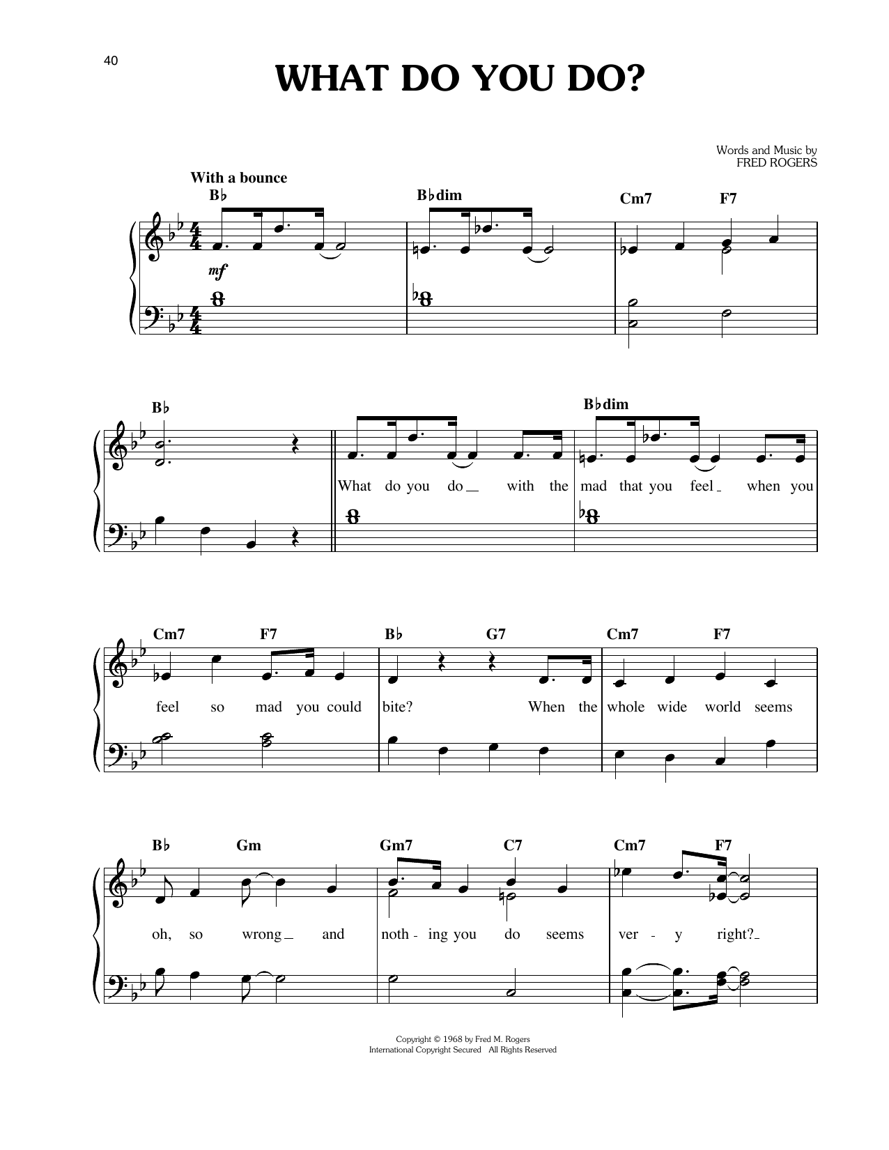 What Do You Do? (Easy Piano)
