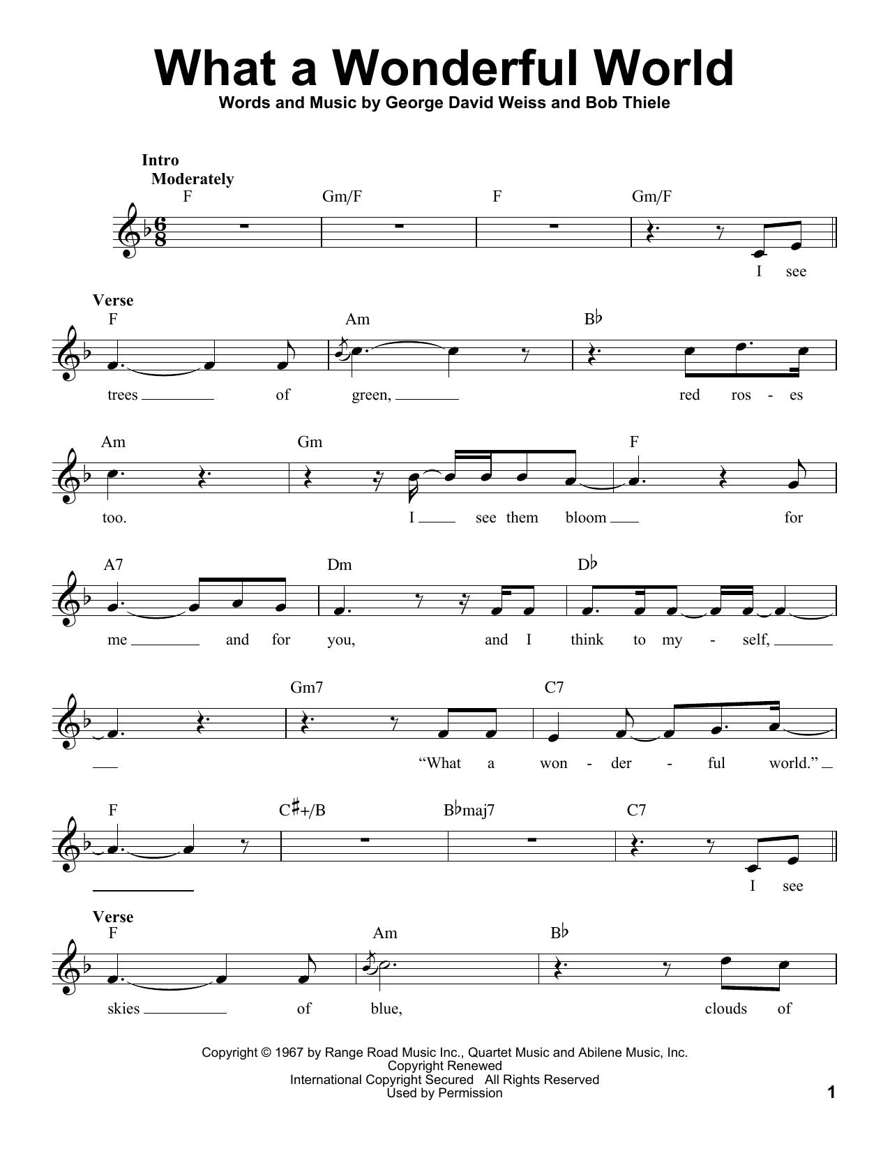 What A Wonderful World (Pro Vocal)
