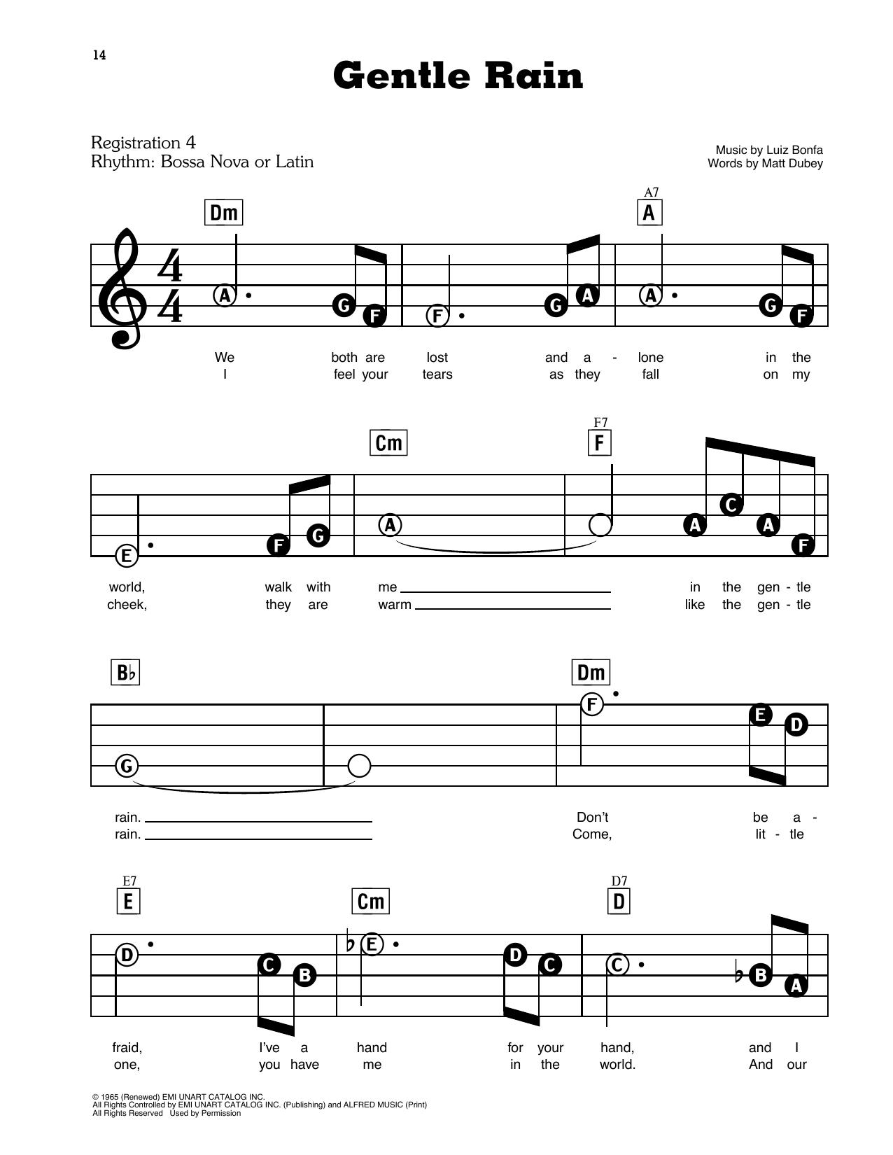 Gentle Rain (E-Z Play Today)