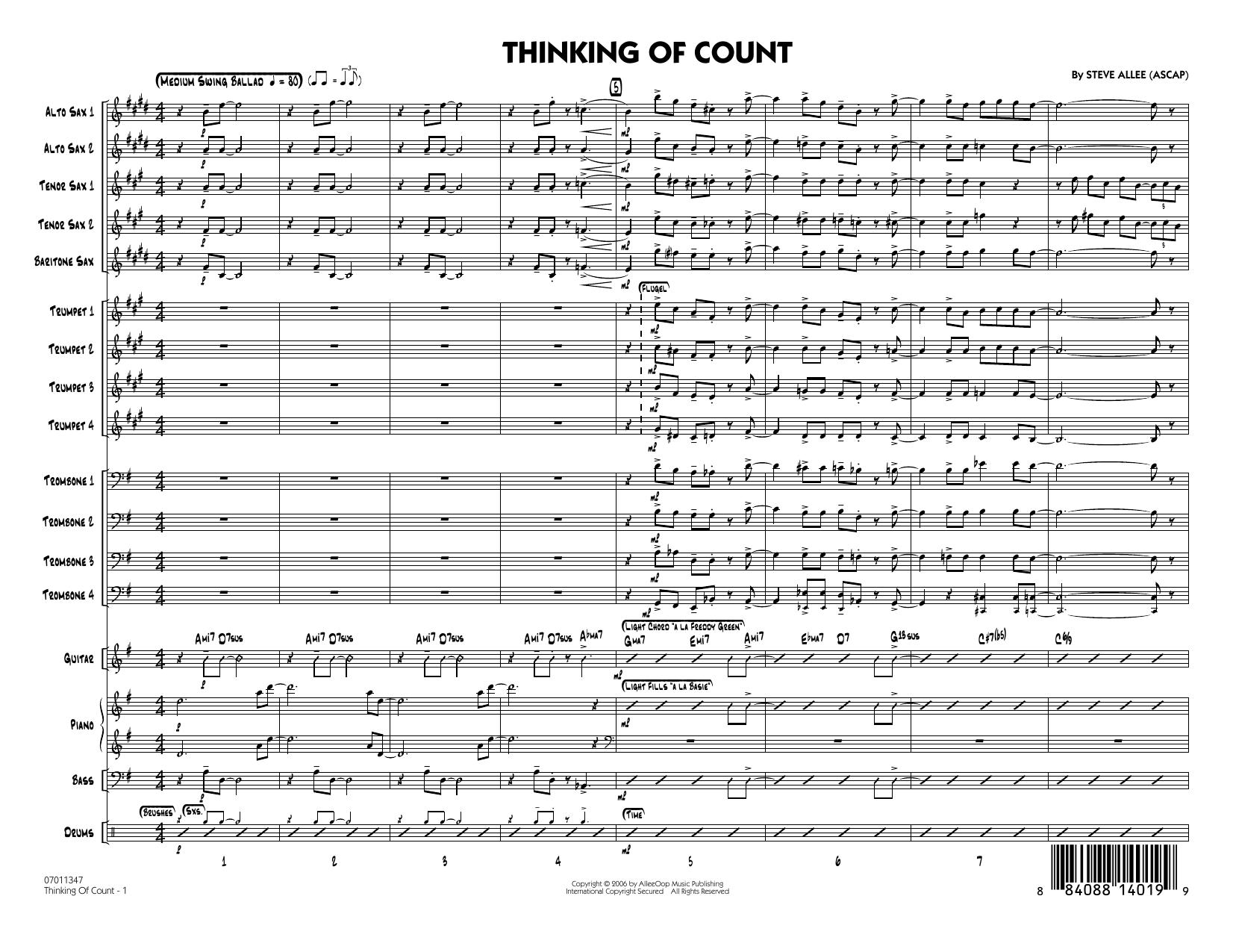Thinking of Count - Full Score (Jazz Ensemble)