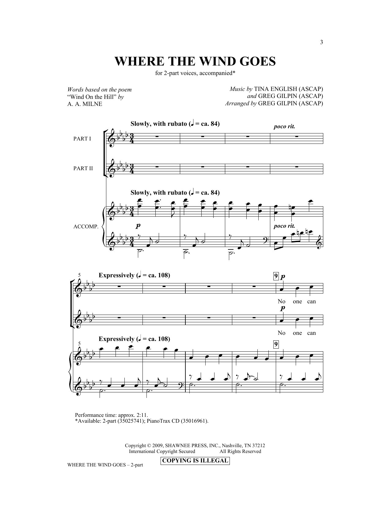 Where The Wind Goes Sheet Music