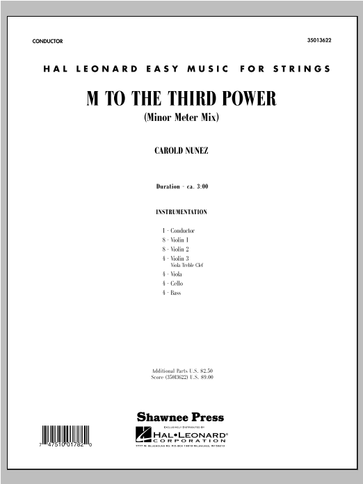 M To The Third Power (Minor Meter Mix) - Score Sheet Music