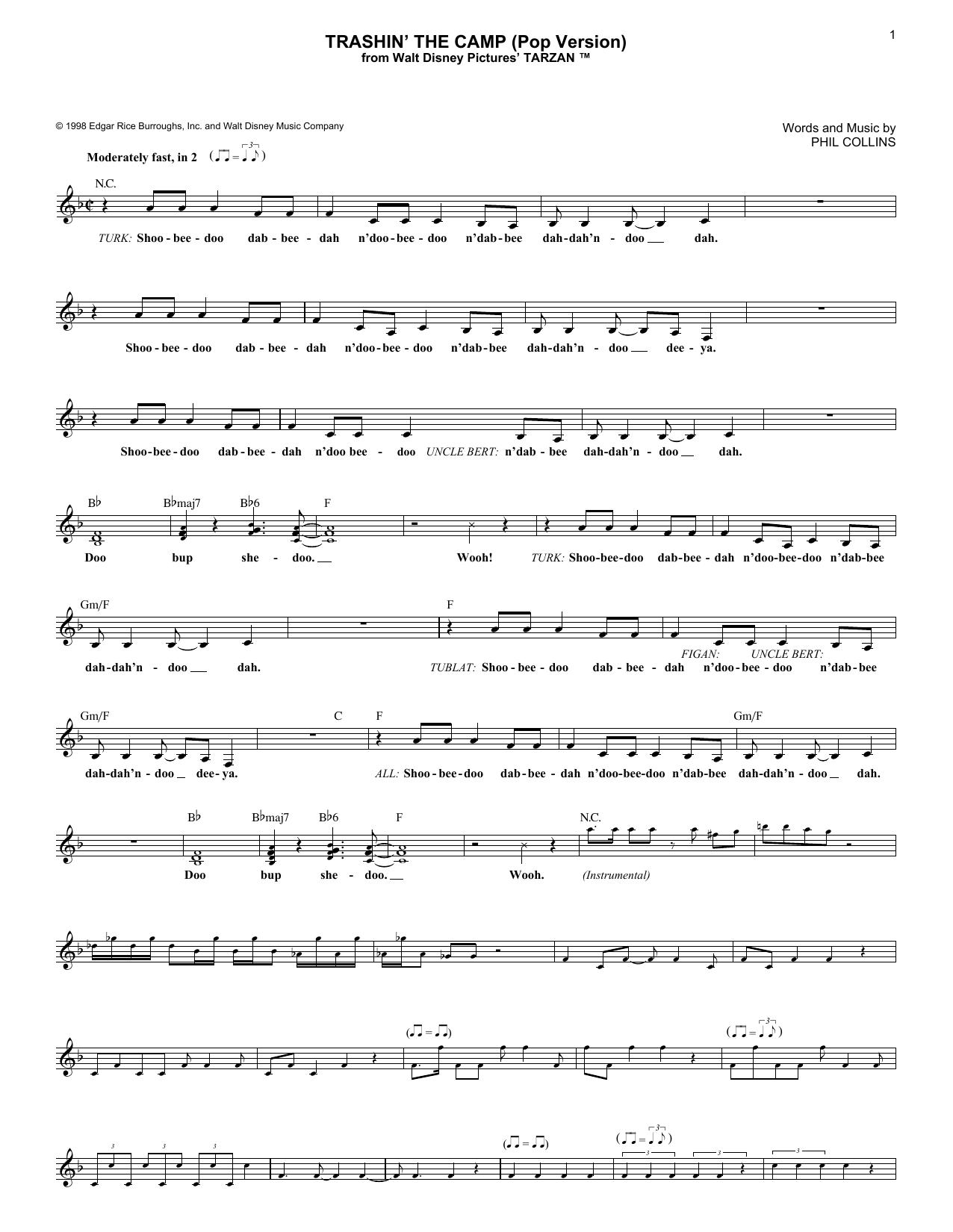 Trashin' The Camp (Pop Version) (Lead Sheet / Fake Book)