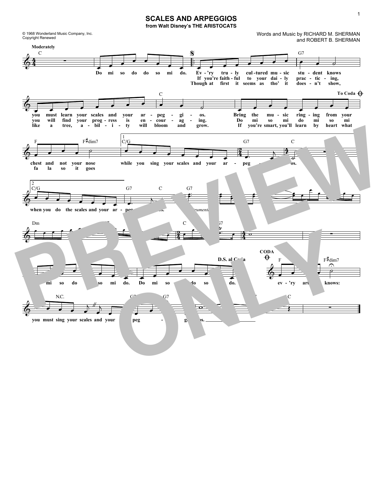 Scales And Arpeggios (Lead Sheet / Fake Book)