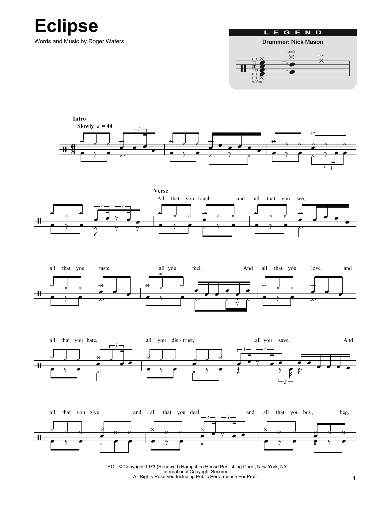 Eclipse Sheet Music