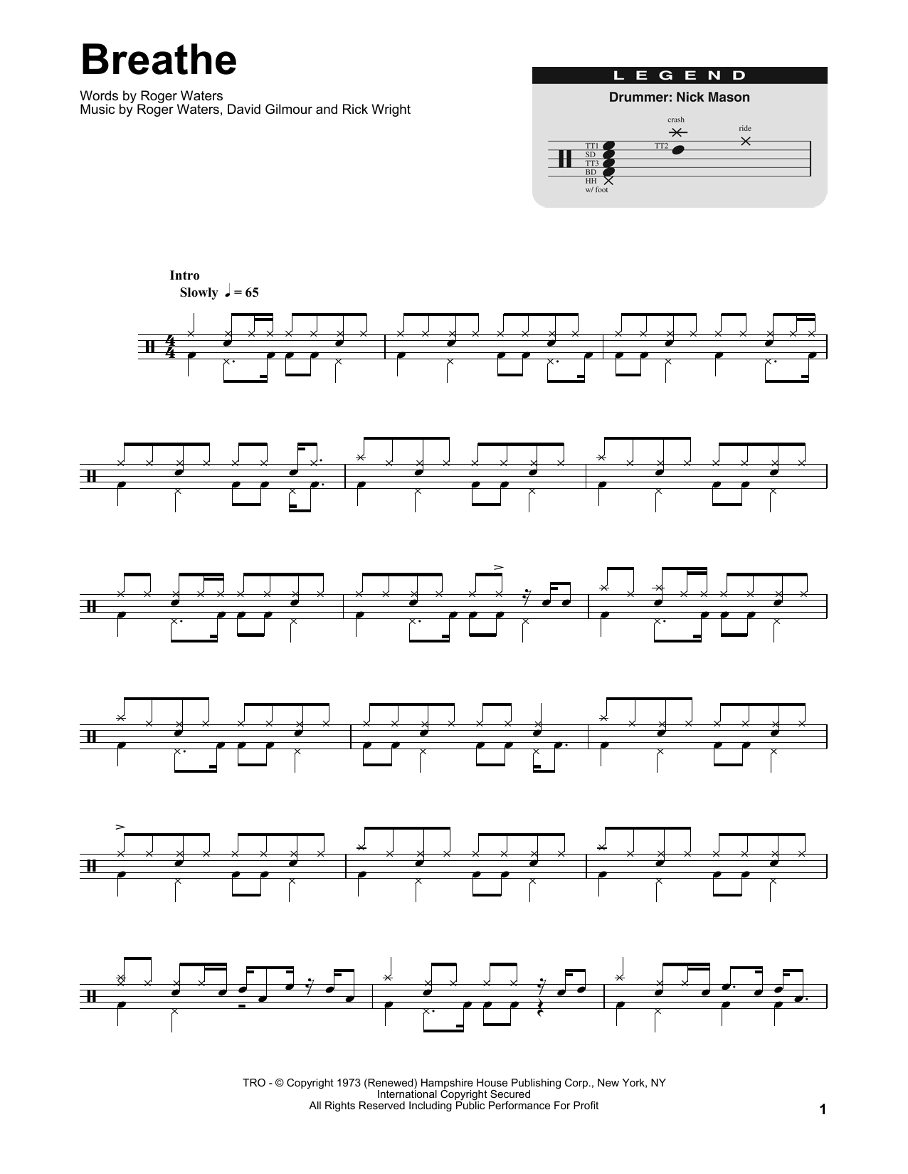 Breathe (Drums Transcription)