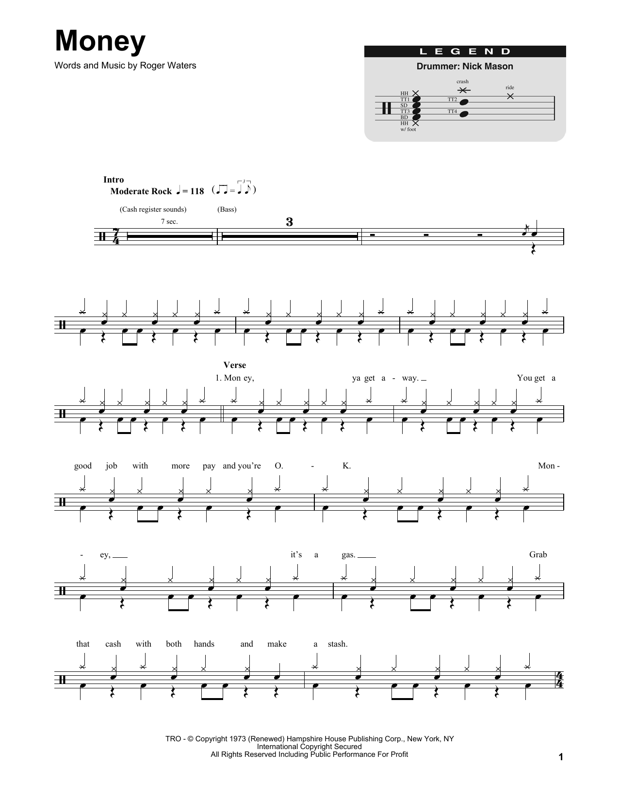 Money Sheet Music