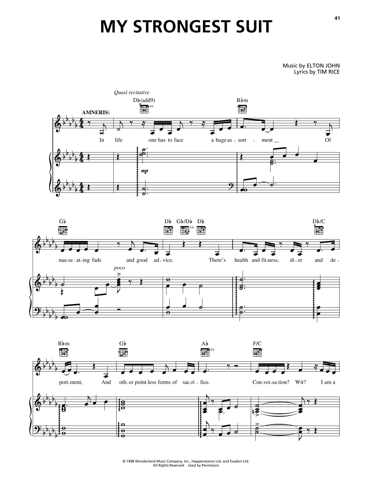 Aida - Vocal Selections by Elton John, Tim Rice