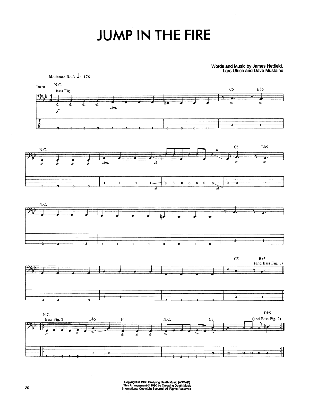 Jump In The Fire Sheet Music