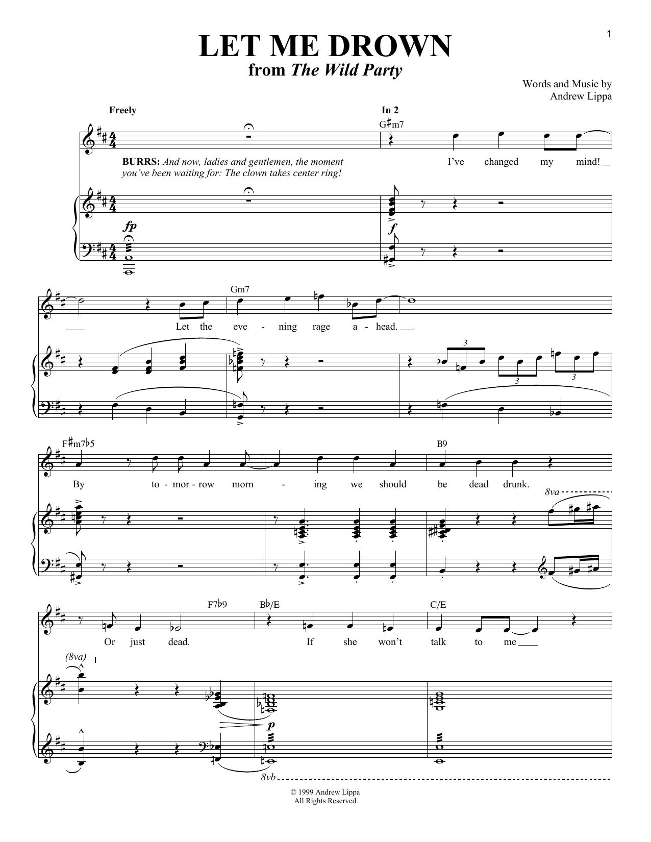 Let Me Drown (Piano & Vocal)