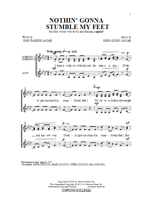 Nothin' Gonna Stumble My Feet (SSA Choir)