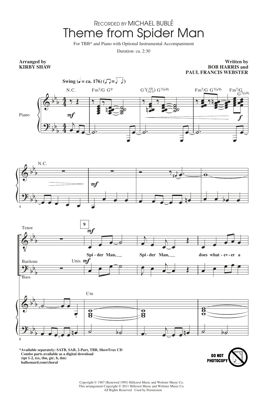 Theme From Spider Man Sheet Music