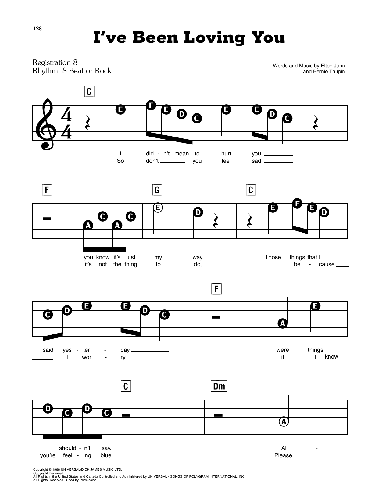 I've Been Loving You Sheet Music