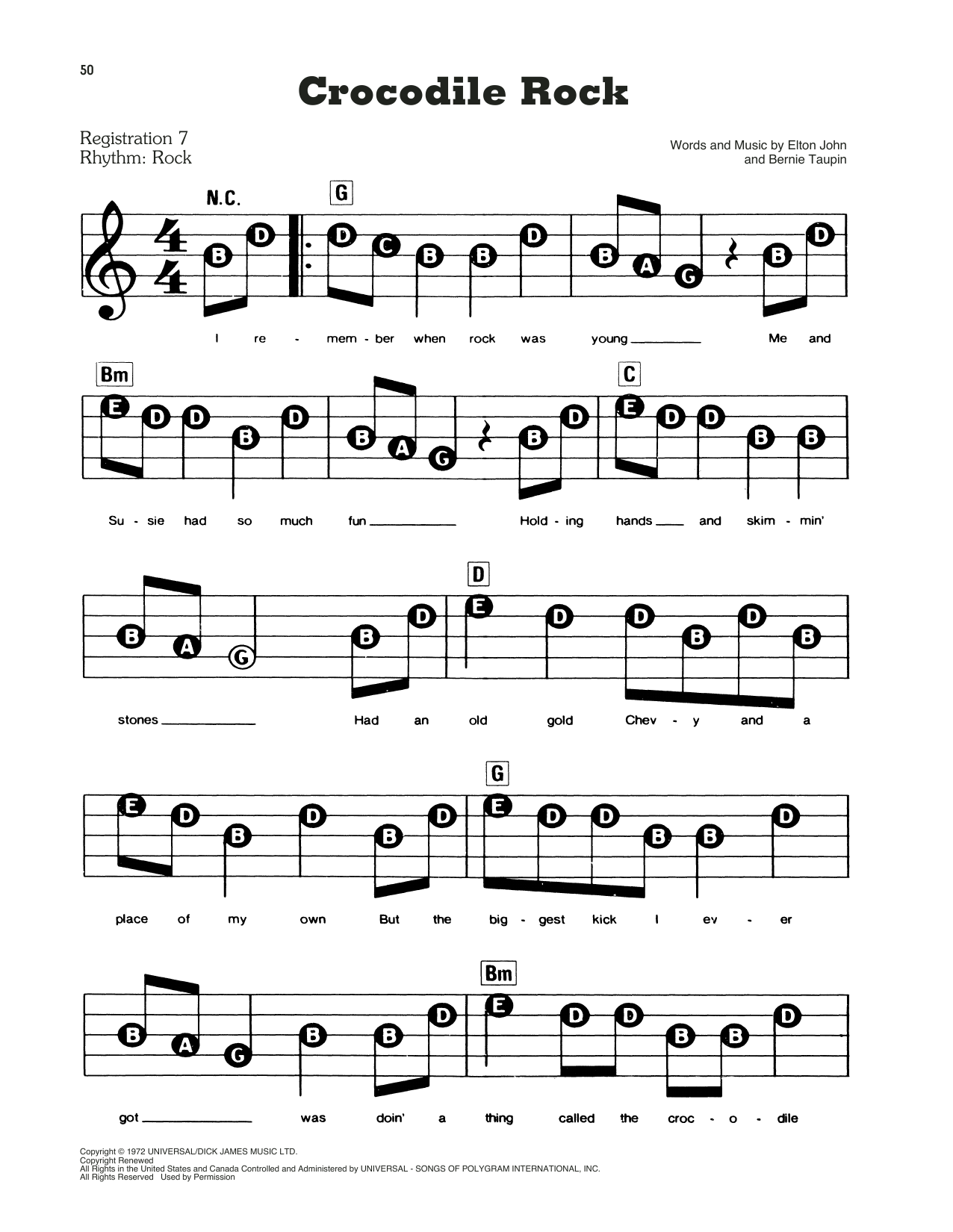Crocodile Rock (E-Z Play Today)
