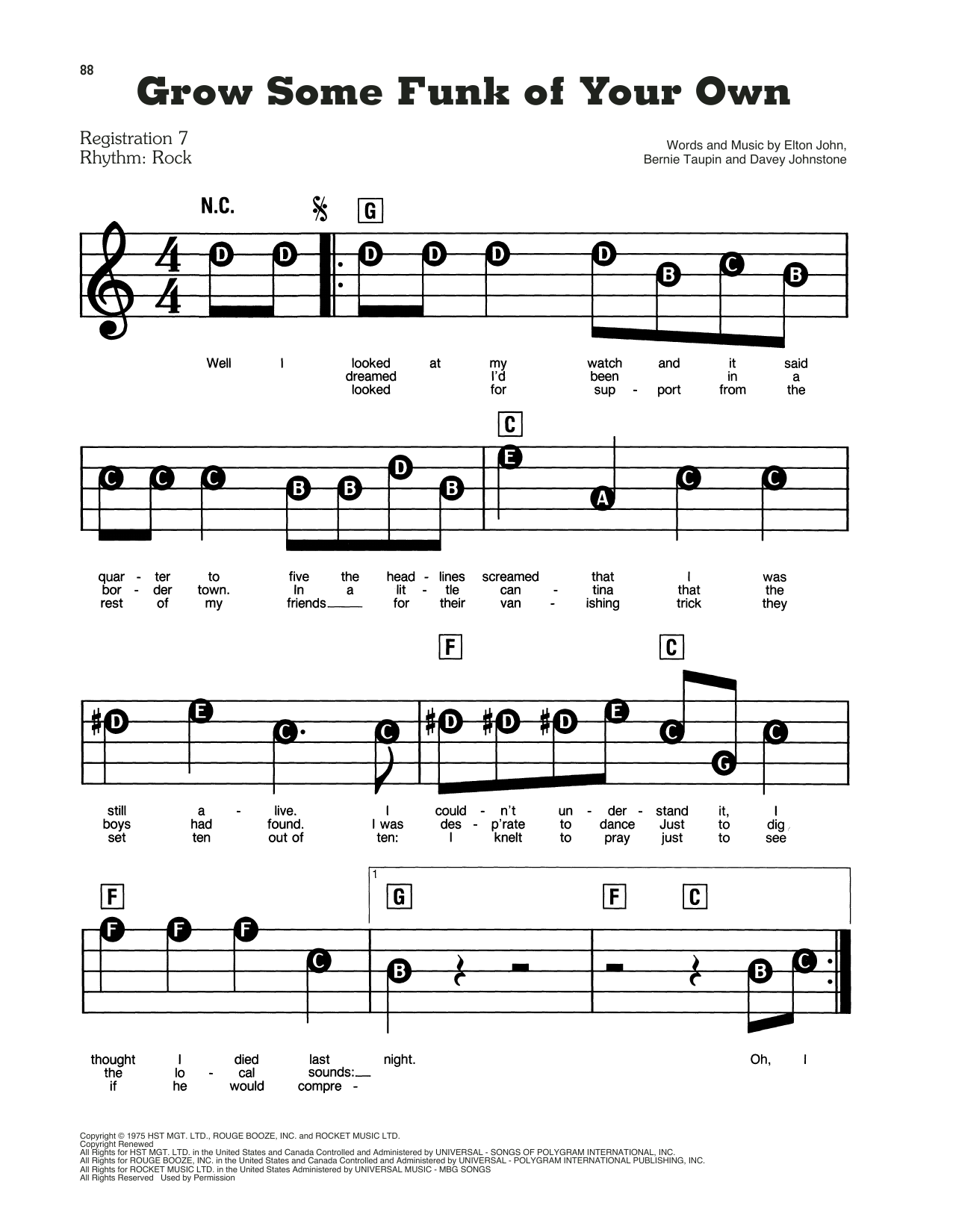 Grow Some Funk Of Your Own Sheet Music