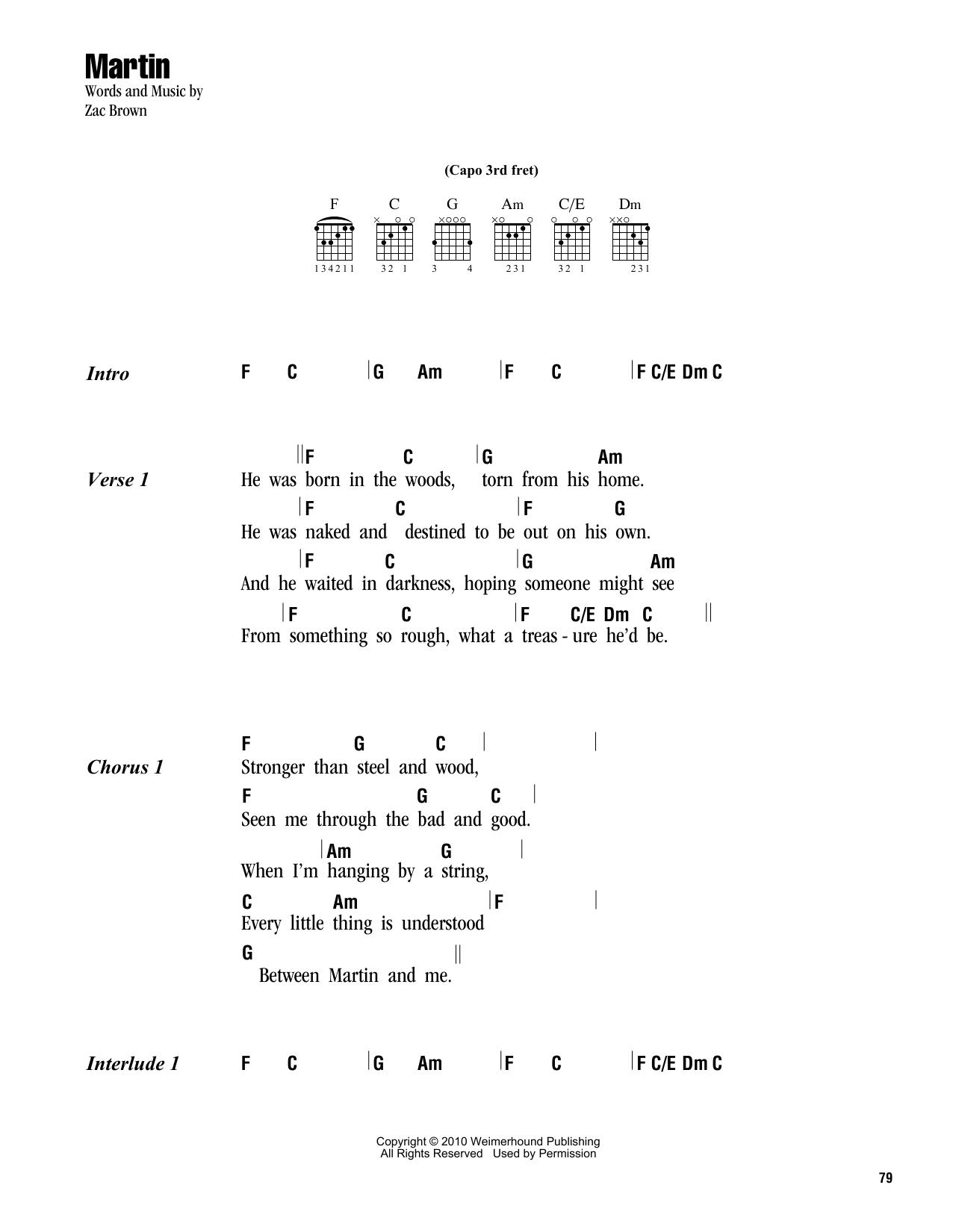 Martin Sheet Music