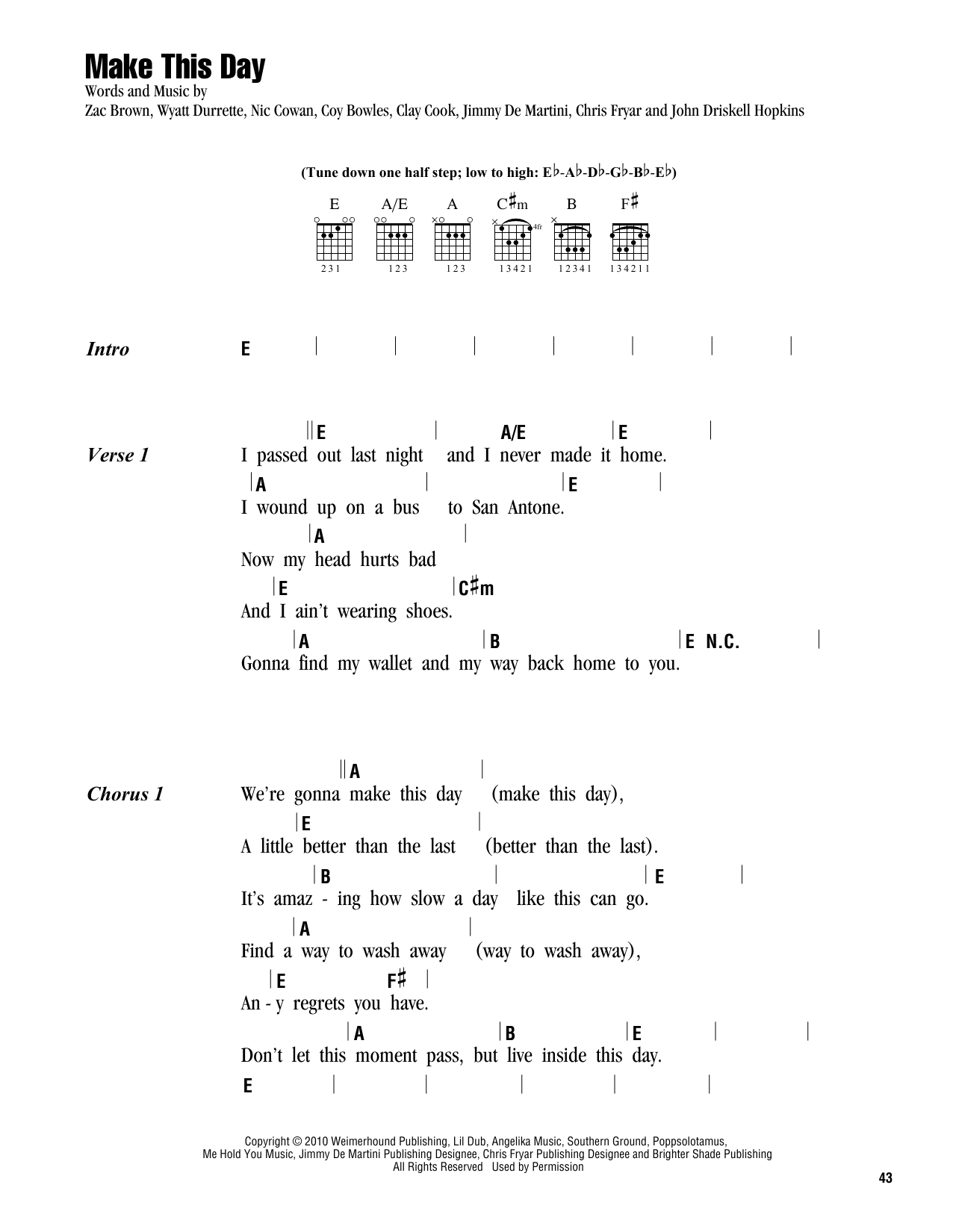 Make This Day Sheet Music
