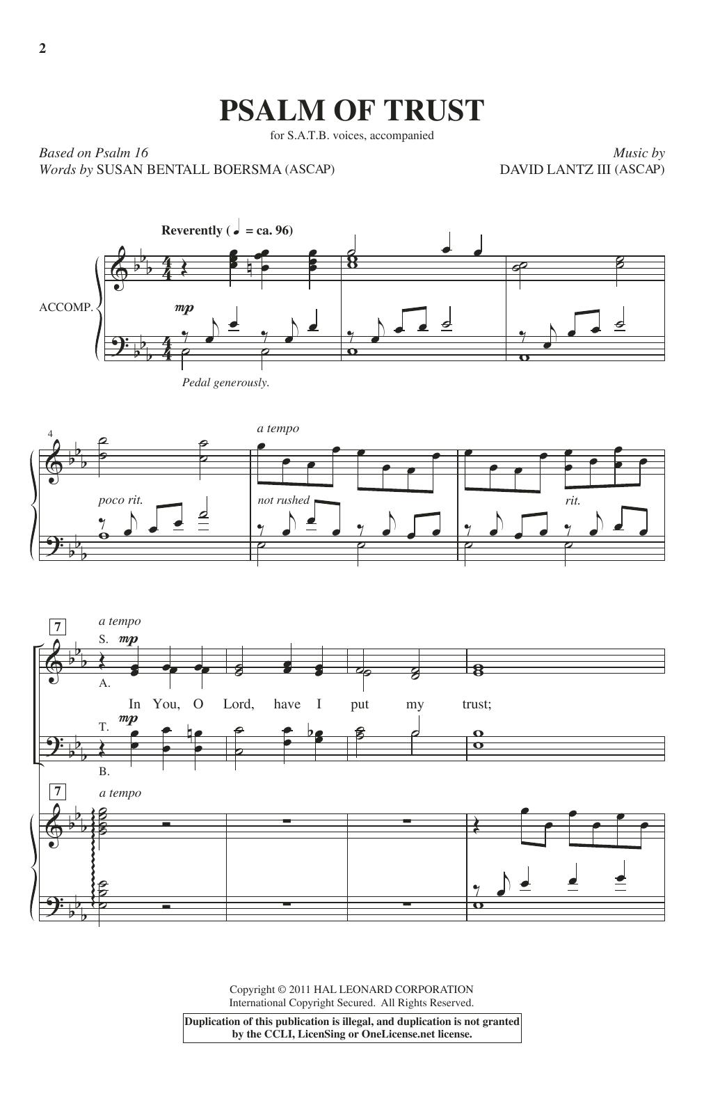 Psalm Of Trust (SATB Choir)