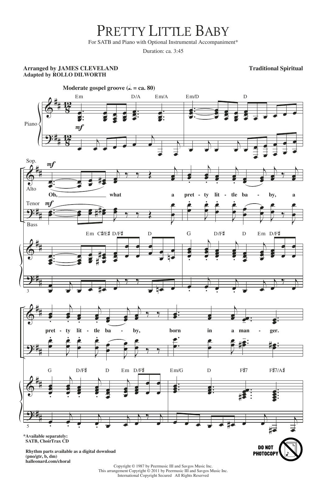 Pretty Little Baby (arr. James Cleveland) (SATB Choir)
