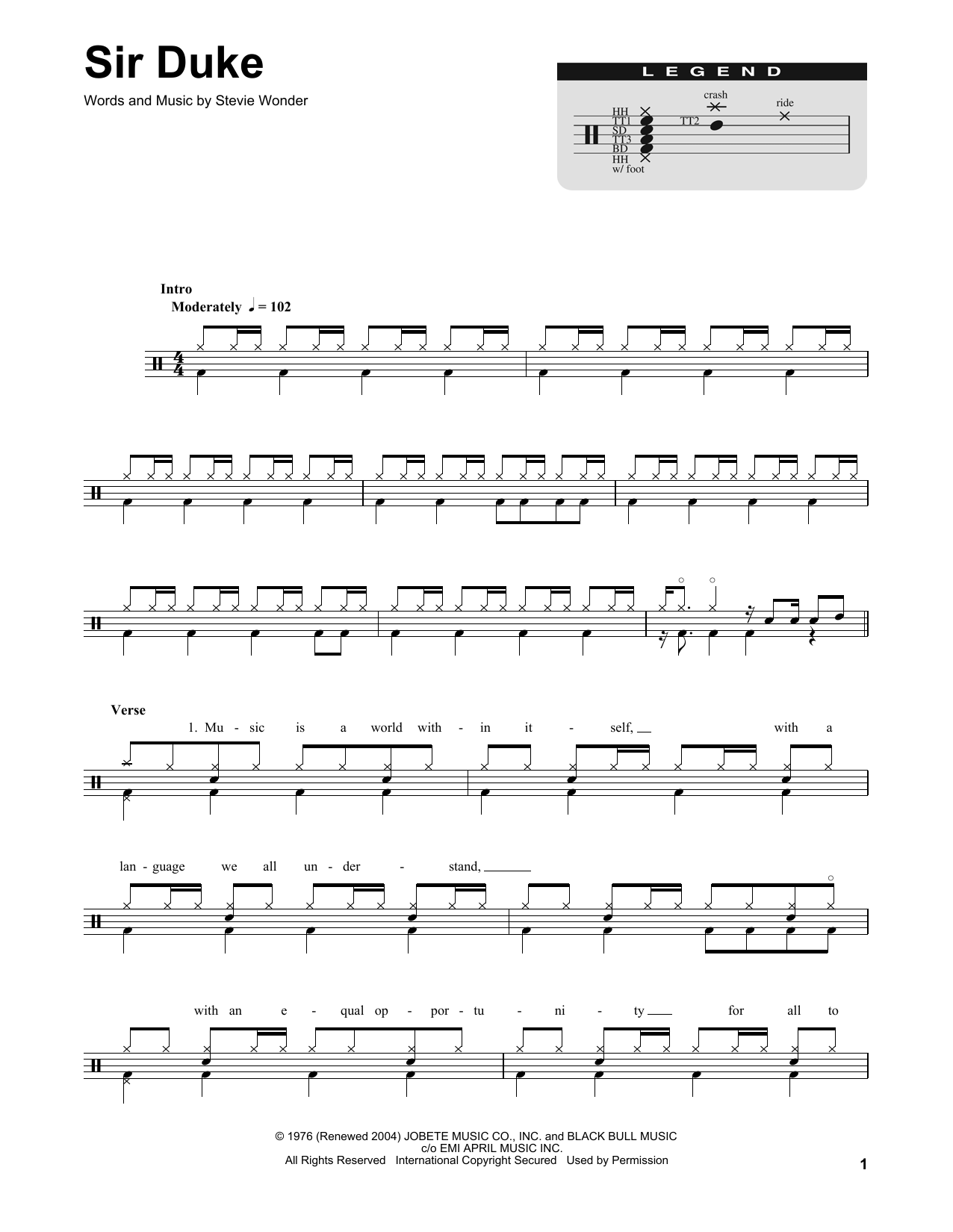Sir Duke Sheet Music