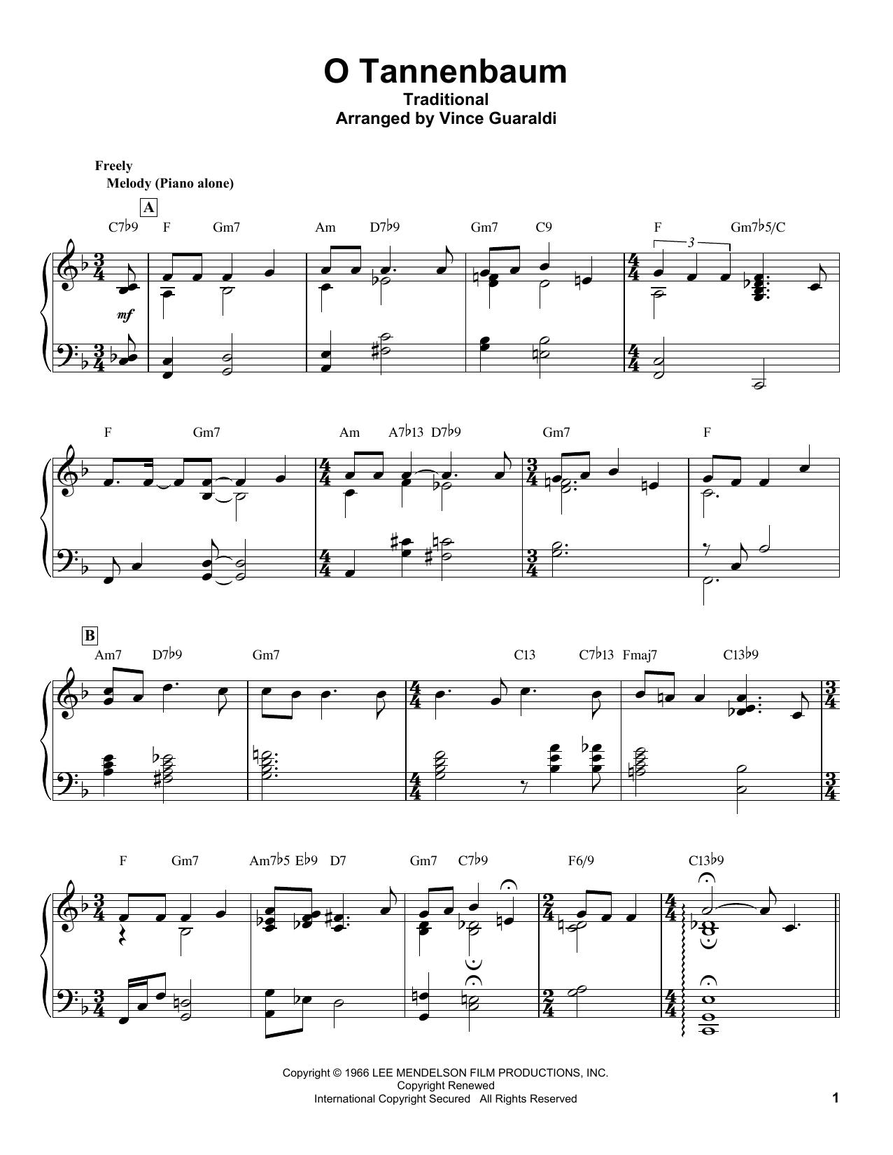 O Tannenbaum (Piano Transcription)