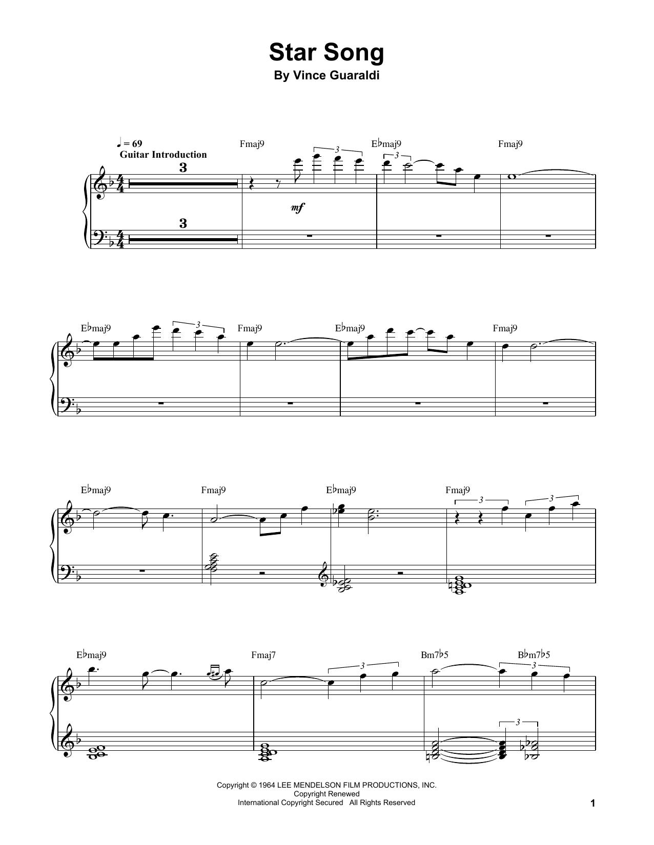 Star Song (Piano Transcription)