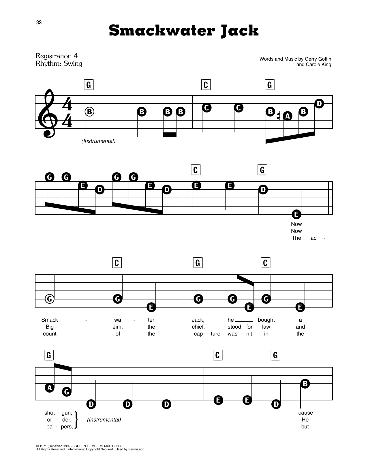 Smackwater Jack Sheet Music